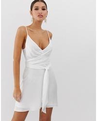 ASOS DESIGN Cami Wrap Mini Dress With