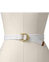White Canvas Belt