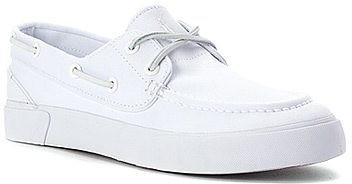 ... White Canvas Boat Shoes Polo Ralph Lauren Sander P Boat Shoe
