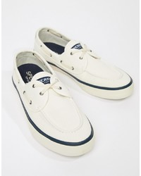 Sperry Topsider Sneaker Boat Shoes In White