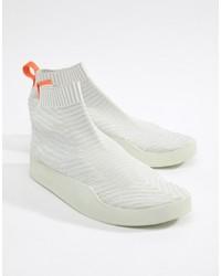 adidas Originals Adilette Primeknit Sock Summer Trainers In White Cm8226