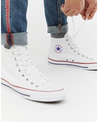 Converse Chuck Taylor Hi Plimsolls In White M7650c