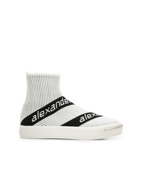 Alexander Wang Logo Stripe Sock Sneakers