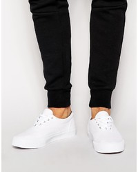 Asos Brand Lace Up Sneakers In Canvas