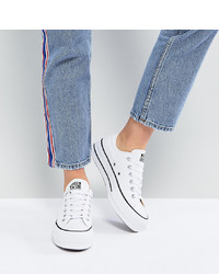 Converse Chuck Taylor Platform Ox Trainers In White