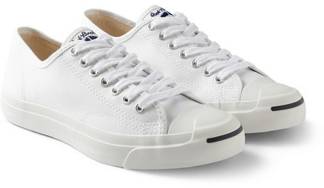 163b742173bf ... White Canvas Low Top Sneakers Converse Jack Purcell Canvas Sneakers ...