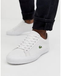 Lacoste Lerond Trainers In White Canvas