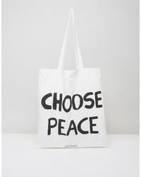 Choose peace canvas tote bag medium 4420261