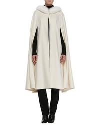 White Cape Coat