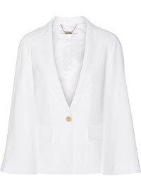 Givenchy Cape Effect Blazer In White Stretch Cady