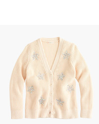 J.Crew Girls Sequin Star Cardigan Sweater