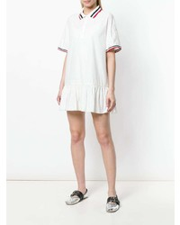 Moncler Trim Peplum Polo Dress