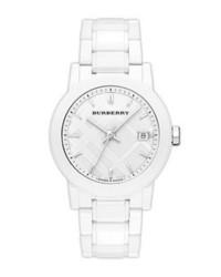 Burberry Medium Ceramic Bracelet Watch 34mm White