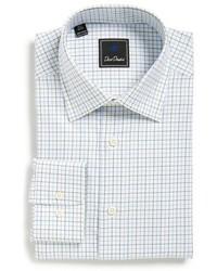 David Donahue Big Tall Regular Fit Check Dress Shirt