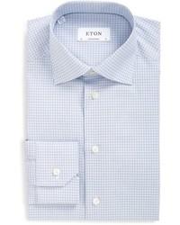 Contemporary fit check dress shirt medium 595822