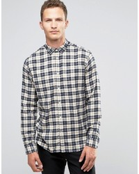 Selected Homme Flannel Check Shirt In Regular Fit