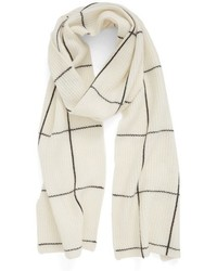 Halogen Windowpane Wool Cashmere Scarf