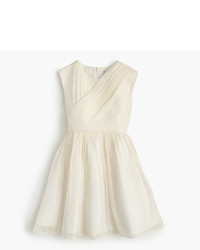 J.Crew Girls Draped Dress In Crinkle Chiffon