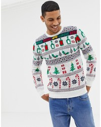 White Christmas Crew-neck Sweater