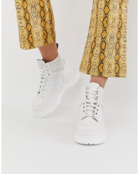 Dr. Martens Zuma Flat Leather Boots In White