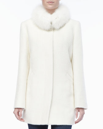 Sofia Cashmere Alpacawool Fur Collar Coat | Where to buy & how to wear