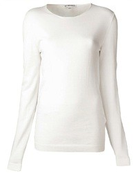 White Crew-neck Sweater