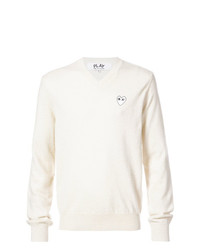 Comme Des Garcons Play Comme Des Garons Play Crew Neck Pullover With White Heart
