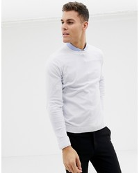 ASOS DESIGN Cotton Jumper In White