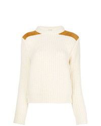 Saint Laurent Ribbed Mock Neck Sweater