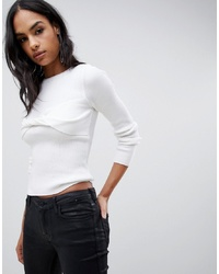 ASOS DESIGN Twist Front Jumper