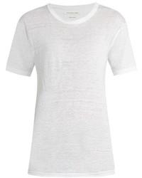 Etoile Isabel Marant Isabel Marant Toile Crew Neck Slub Linen Boyfriend T Shirt
