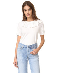 Sea Ruffle Collar Tee