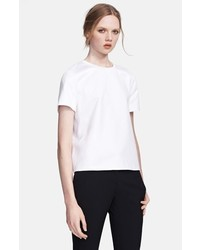 Valentino Stud Detail Jersey Tee White Large