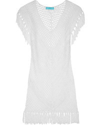 White Crochet Casual Dress