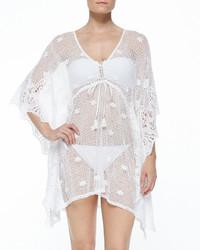 White Crochet Cover-up