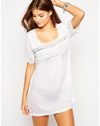 Asos Collection Lace Insert Smock Beach Dress