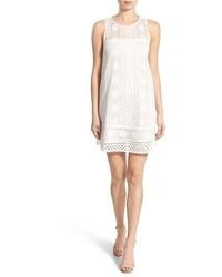 White Crochet Shift Dress