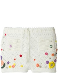 Embellished crochet shorts medium 210365