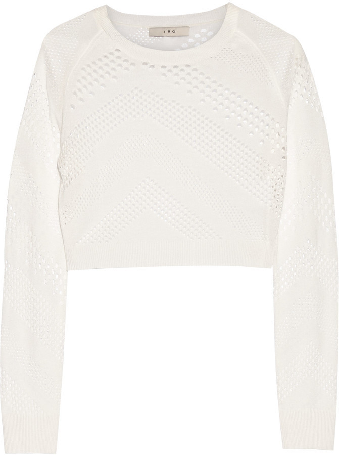 Iro Yaya Cropped Open Knit Top Where To Buy How To Wear