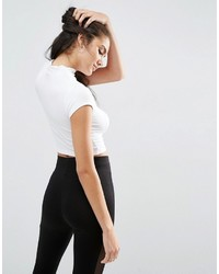 bb9943cd1e49e5 Asos Collection The Ultimate Super Crop Top With Cap Sleeves, £15 ...