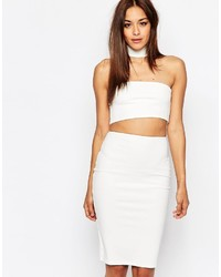Missguided Cut Out Choker Detail Bodycon Dress