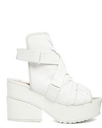 Asos Eclipse Sandal Ankle Boots White