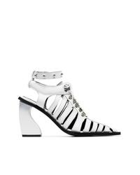 MARQUES ALMEIDA Marquesalmeida White 100 Caged Leather Boots