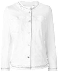 7 For All Mankind Embellished Trim Denim Jacket