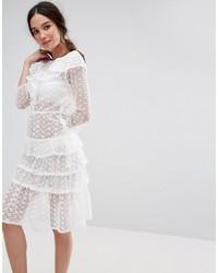 fd3522adfc White Denim Midi Dresses for Women