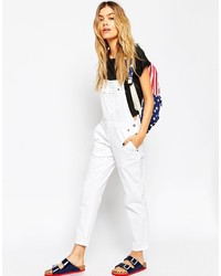 ecf3a1db905b ... Asos Petite 90s Style Overalls In White