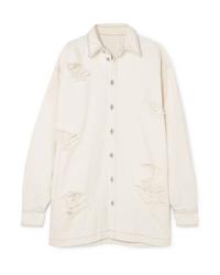 Unravel Project Oversized Distressed Denim Shirt