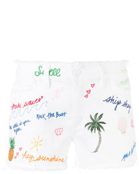 Tory Burch Enzyme Wash Denim Shorts