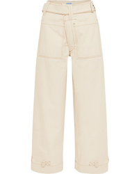 Mugler High Rise Wide Leg Jeans