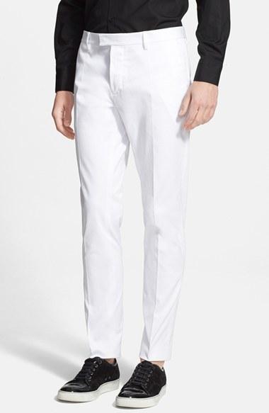 31c3cb96ba3 ... White Dress Pants DSQUARED2 Andy Slim Fit Stretch Cotton Pants ...